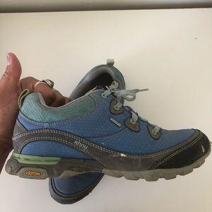 Ahnu blue hiking shoes